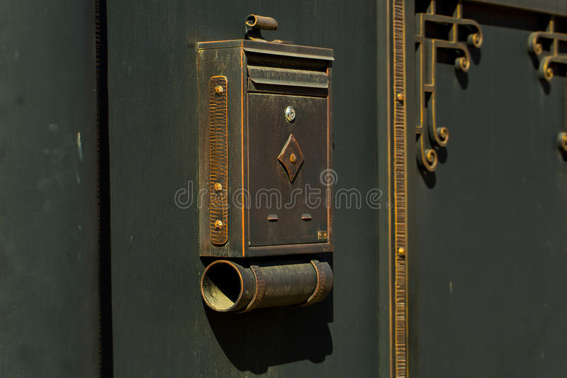 Vintage old metal mail box royalty free stock photos