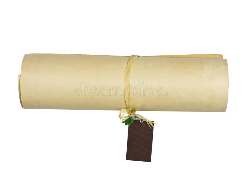 Vintage Old Paper Roll Royalty Free Stock Photo
