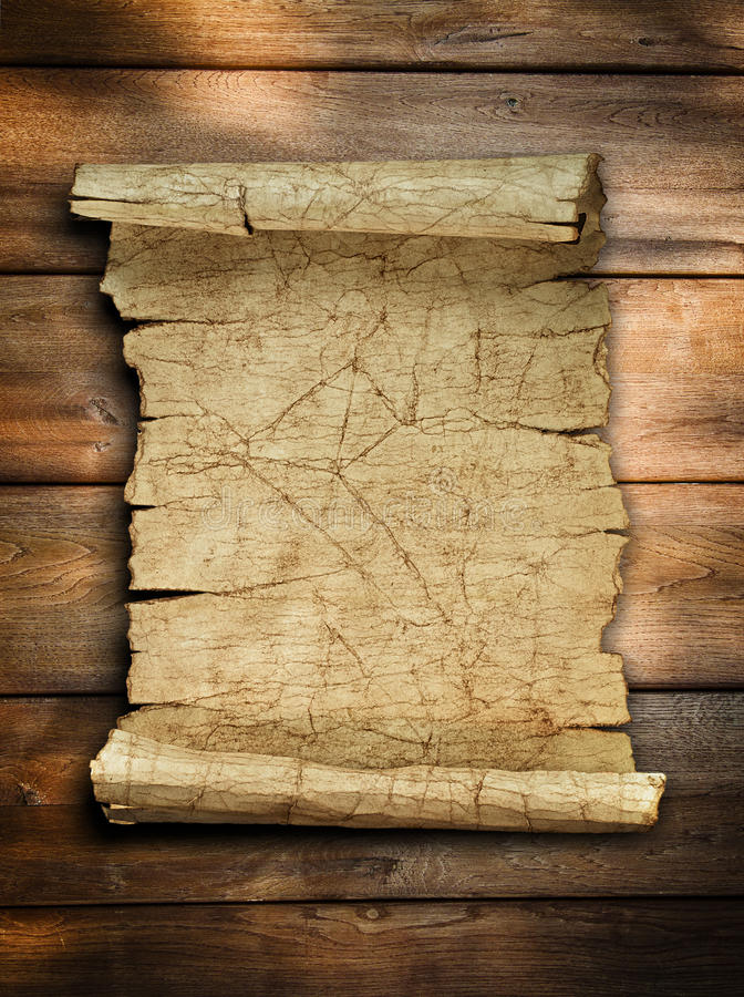 vintage-old-paper-scroll-wood-22605300 Old Letter Powerpoint Template on