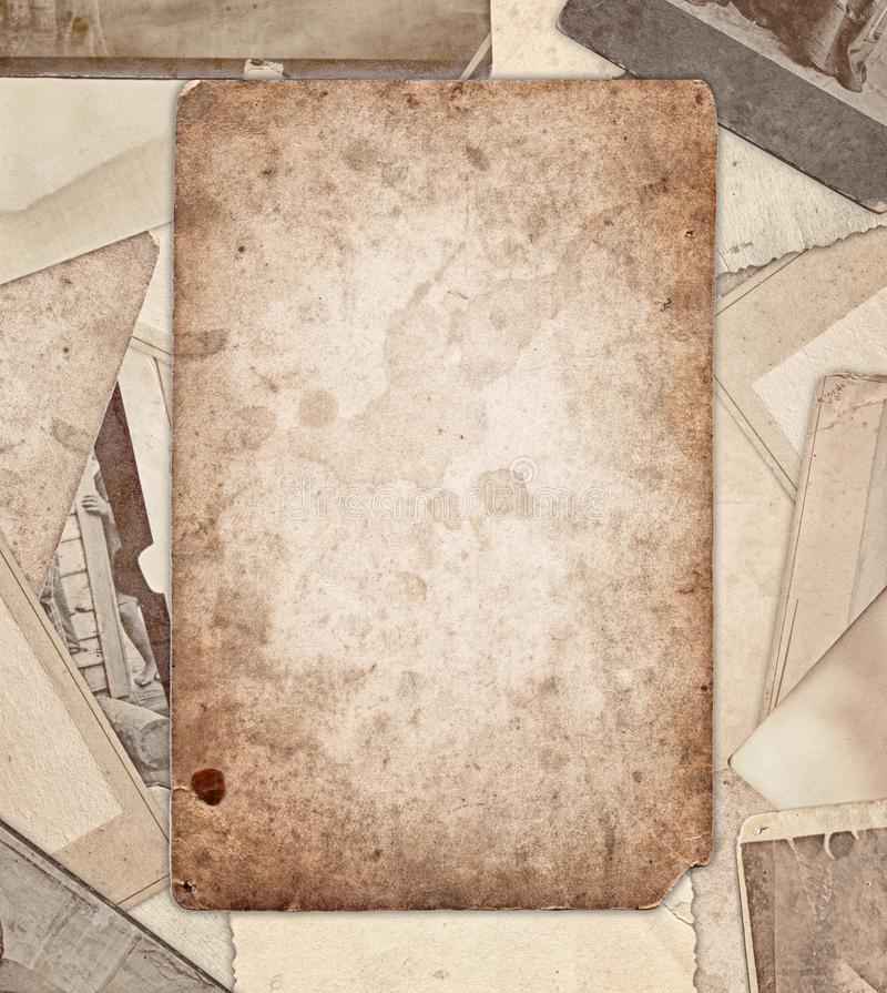 Vintage old photos border. Background stock photography