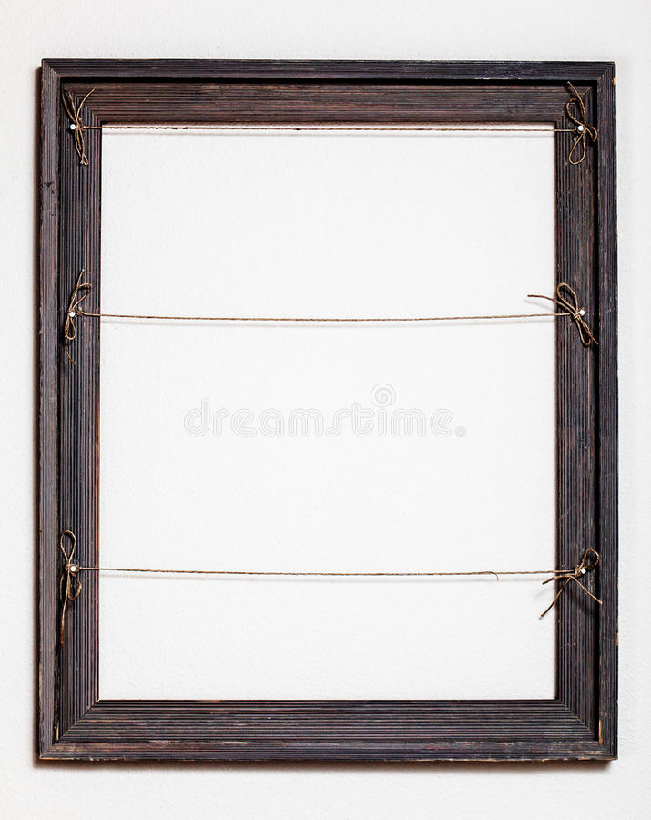 Vintage Old Picture Frame on White Background royalty free stock photo