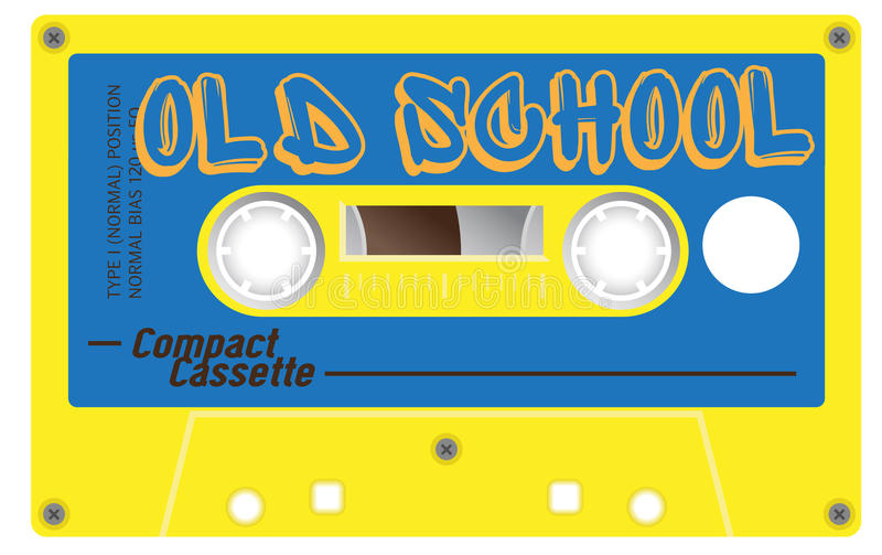 Vintage old school cassette with name on it royalty free illustration