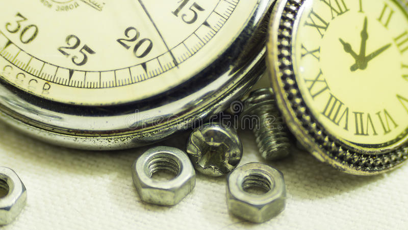 Vintage old stopwatch royalty free stock images