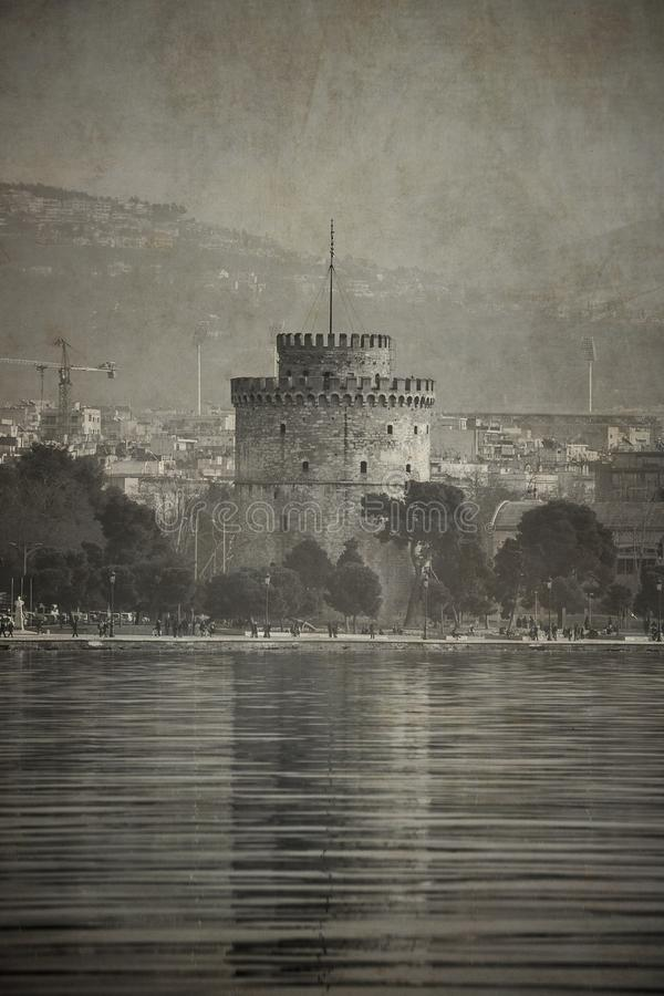 Free Vintage Old Style Look Photograph Of White Tower Of Thessaloniki Royalty Free Stock Photography - 103098267