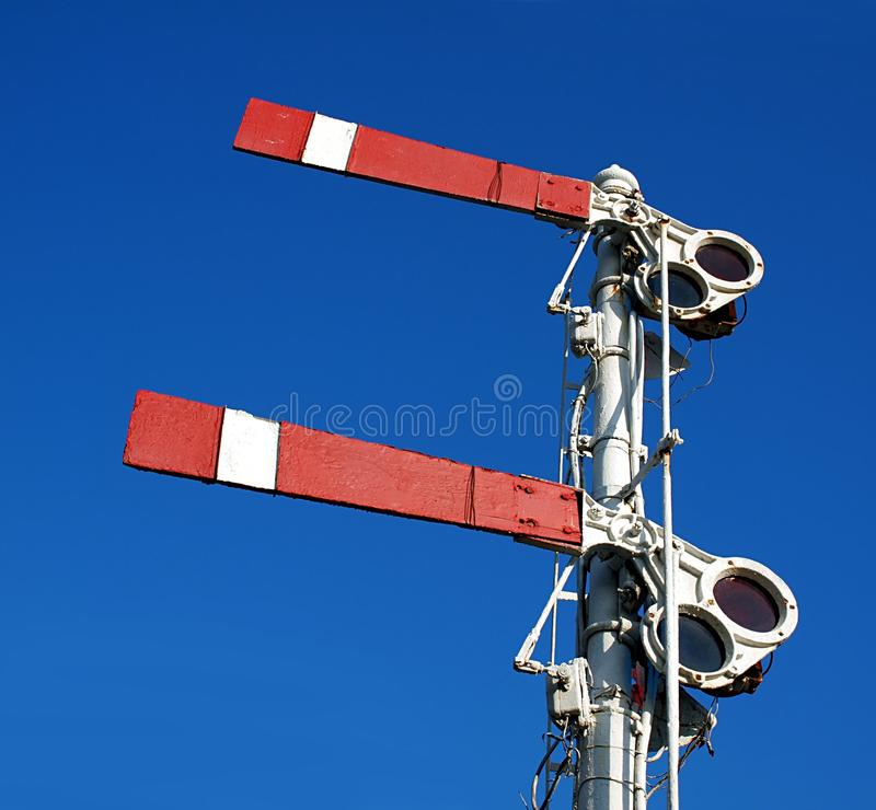 Free Vintage Old Train Warning Signal Stock Photo - 23524300
