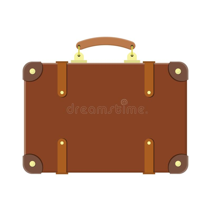 Vintage old travel suitcase. vector illustration