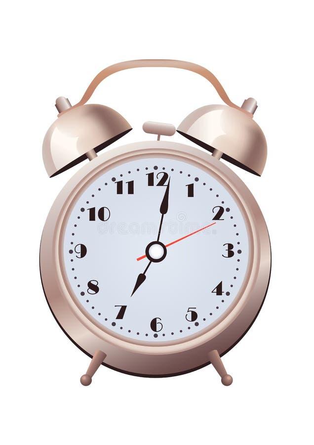 Vintage old two bell clock alarm stock illustration