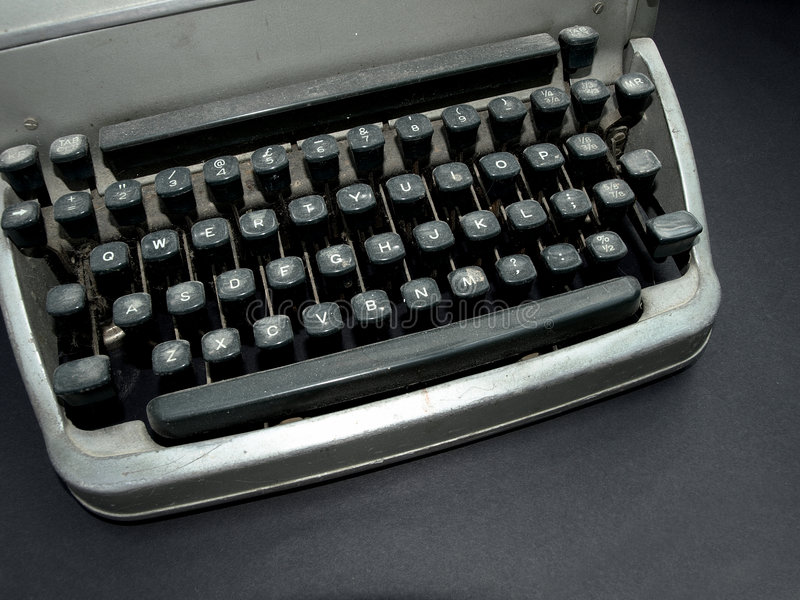 Download Vintage old type writer stock image. Image of background - 5305175