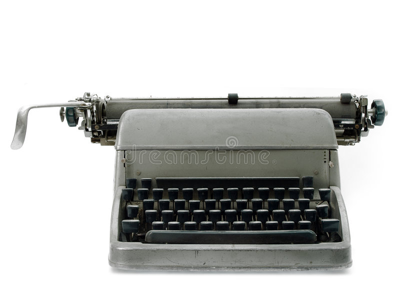 Download Vintage old type writer stock photo. Image of isolated - 5562546