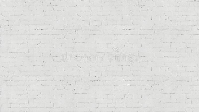 Vintage old white wash brick wall texture for design. Panoramic background for your text or image. royalty free stock photos