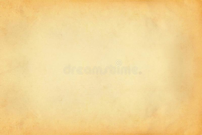 Vintage old yellow and brown paper parchment texture background royalty free stock photos