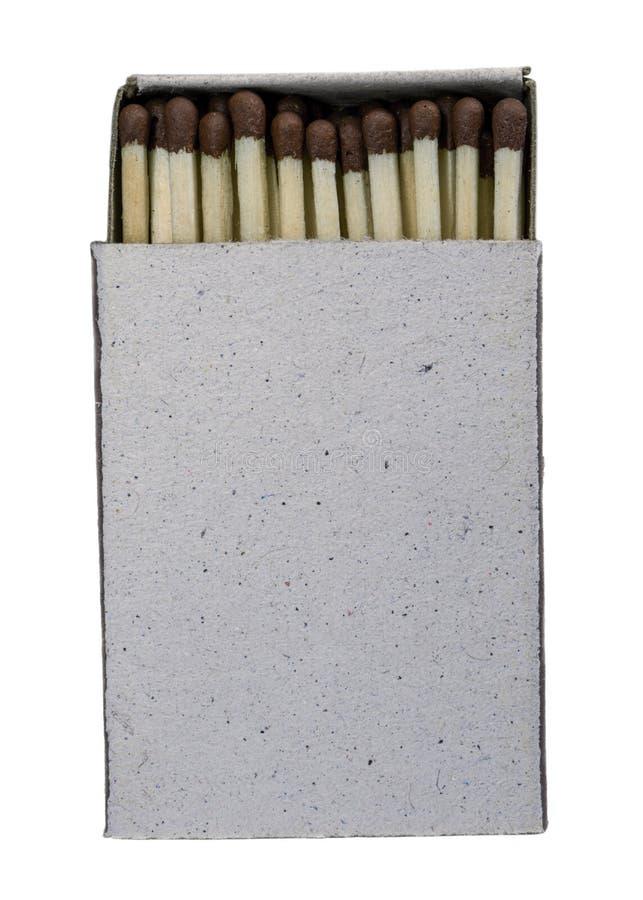 Vintage open blank matchbox isolated on white. Background royalty free stock image
