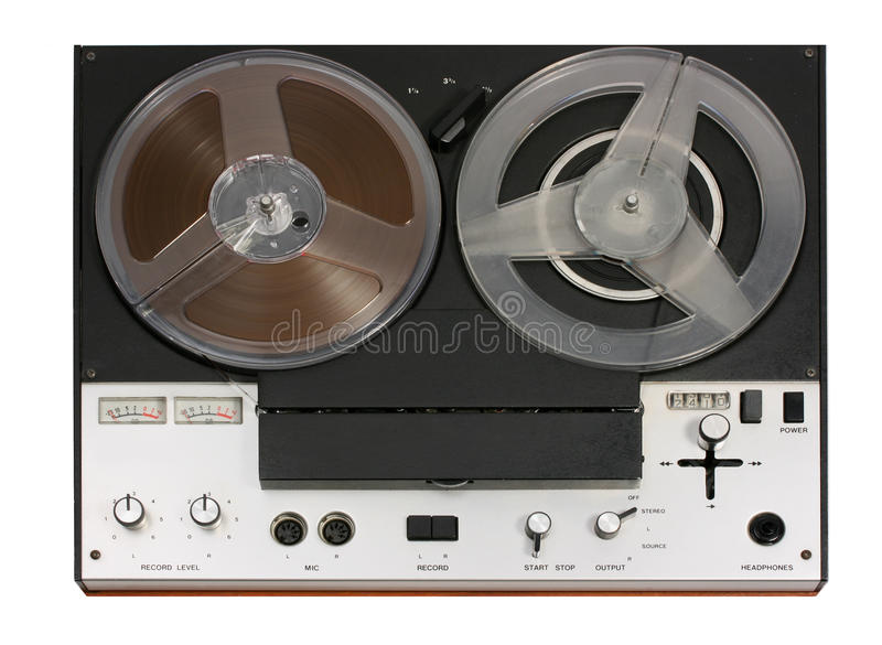 Vintage Open Reel Tape Recorder deck royalty free stock photography