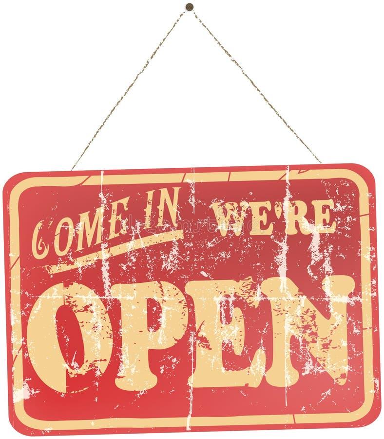 Vintage Open Sign stock illustration