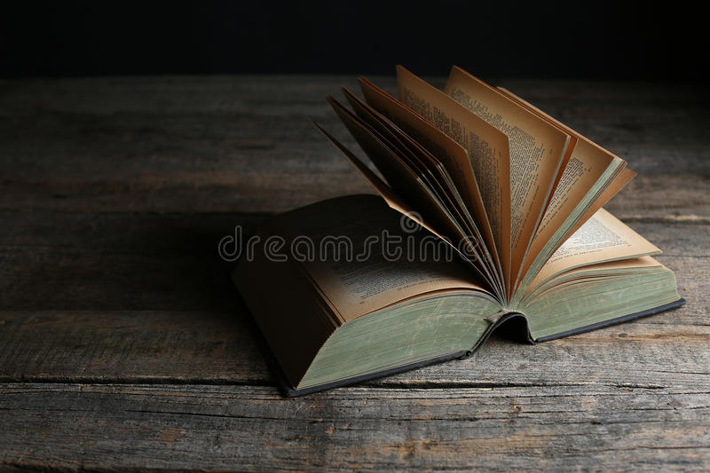 Vintage opened book stock photos