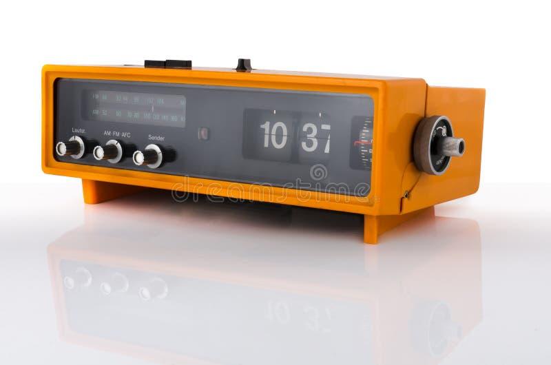 Download Vintage orange radio clock stock image. Image of fashioned - 23883155