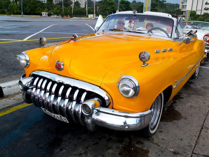 Vintage orange taxi. royalty free stock photos