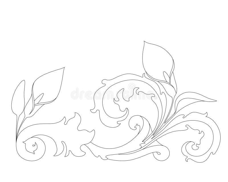 Download Vintage ornament stock vector. Image of petal, baroque - 14853551