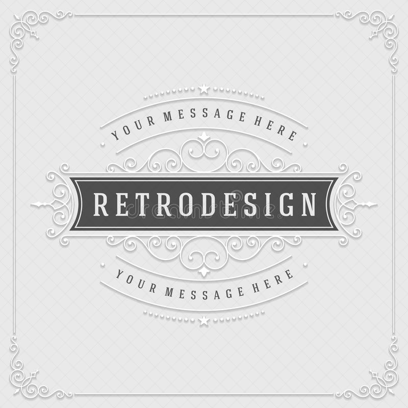 Vintage ornament from cut paper and shadow border royalty free illustration