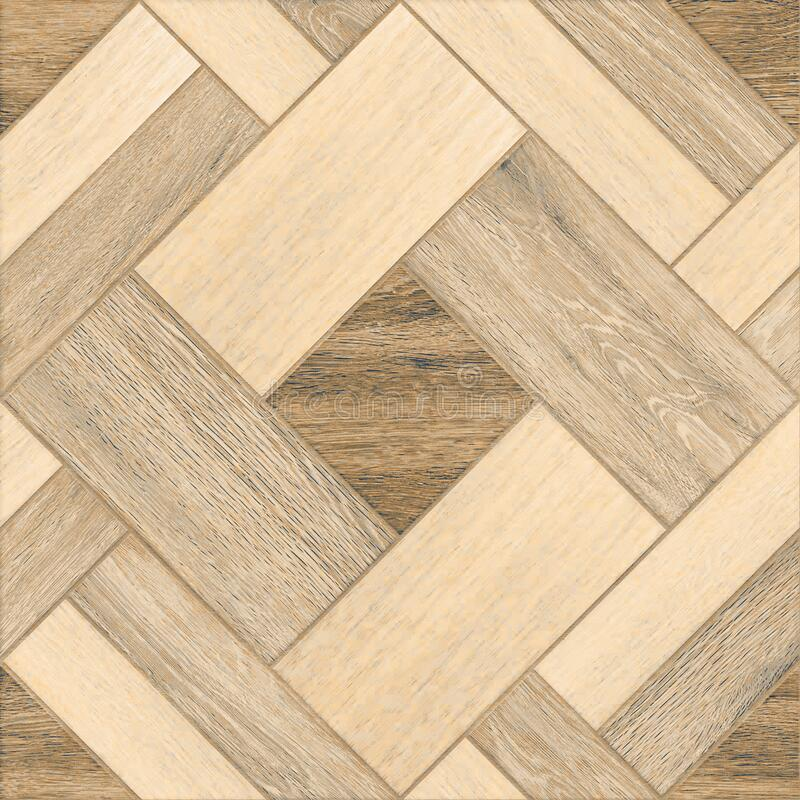 Geometric pattern wooden floor and wall mosaic decor tile royalty free stock photos