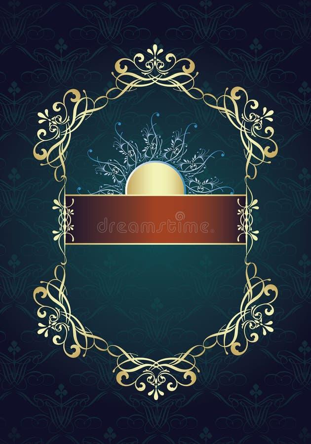 Vintage ornament frame design royalty free illustration