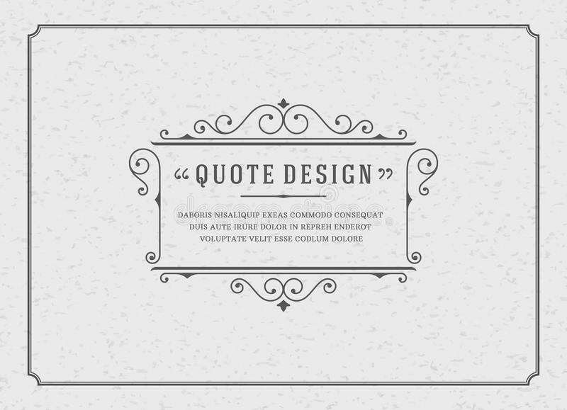 Download Vintage Ornament Quote Marks Box Frame Vector Stock