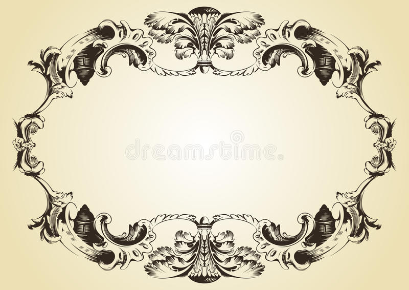 Download Vintage Ornament Yellow Background Stock Vector - Image: 10025142