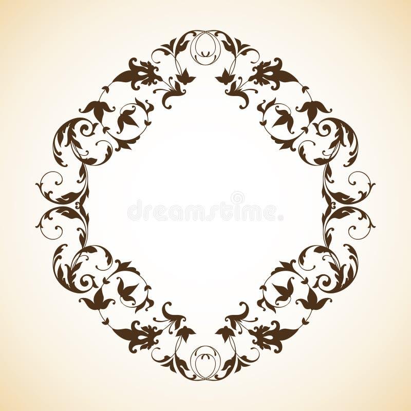 Vintage ornamental frame royalty free illustration