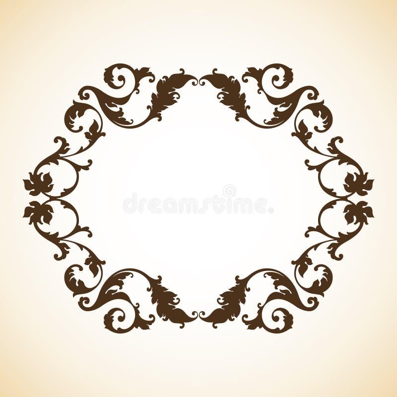 Vintage ornamental frame vector illustration