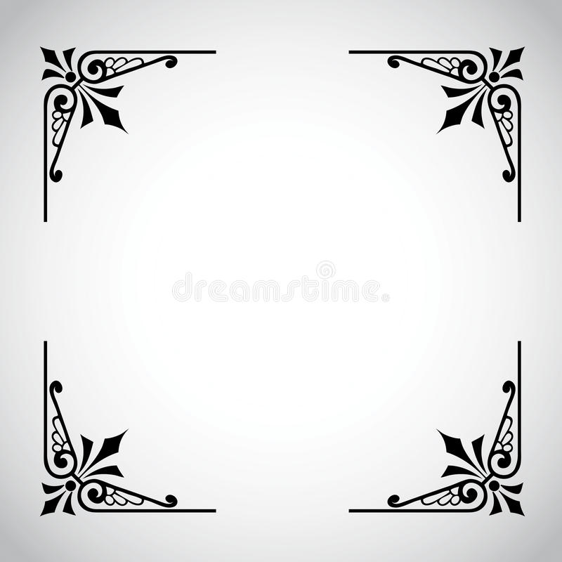 Vintage Ornamental Frame Series royalty free stock photos