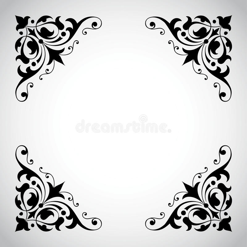 Vintage Ornamental Frame Series stock image