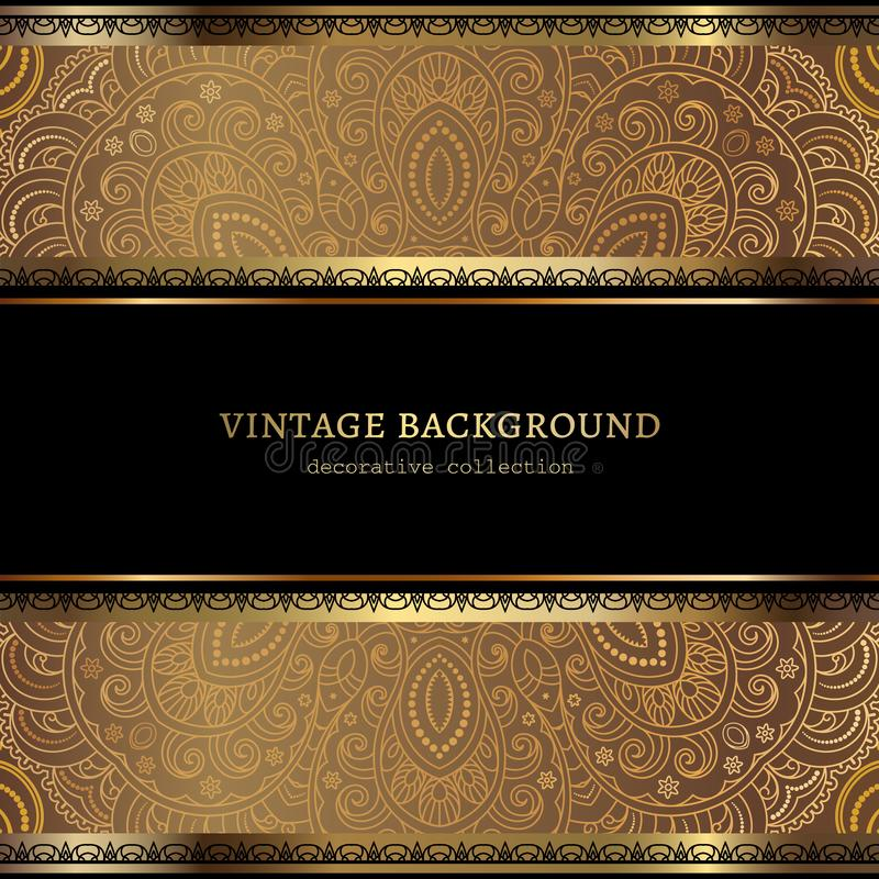 Free Vintage Ornamental Frame With Gold Borders Stock Image - 159162561