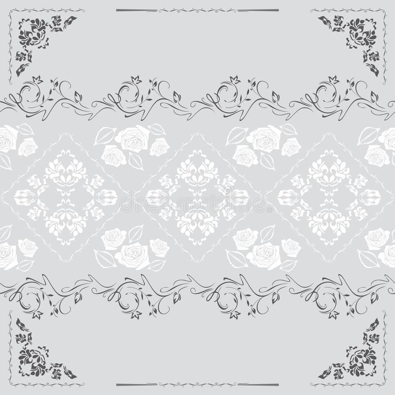 Vintage ornamental seamless background for design royalty free stock image