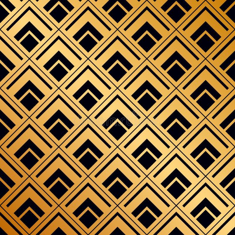 Art Deco pattern stock illustration