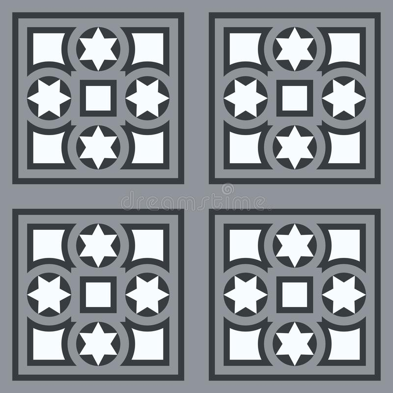 Small Grey Tiles As Background Stock Illustration