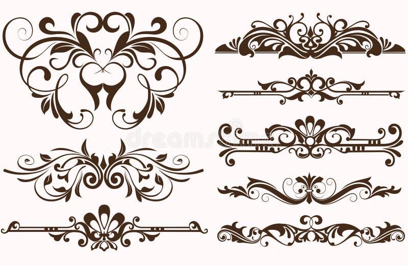Vintage ornaments borders design stock vector for Art nouveau decoration