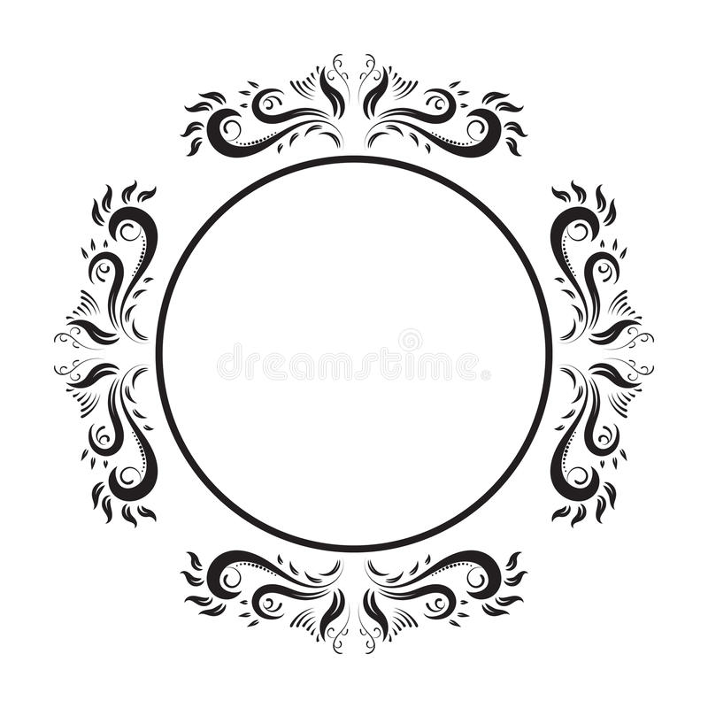 vintage ornate circle frame vector frame stock vector rh dreamstime com ornate frame vector graphics ornate frame vector oval