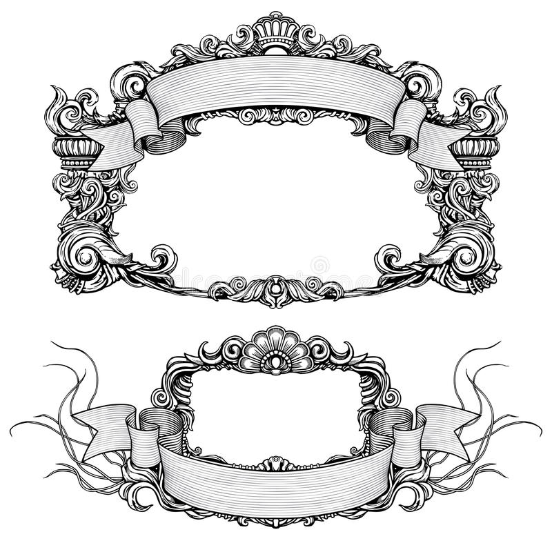 Download Vintage Ornate Frames With Scroll Stock Vector - Image: 13919920