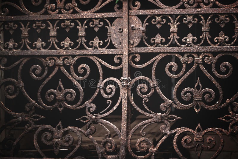Vintage ornate venetian gate royalty free stock photography