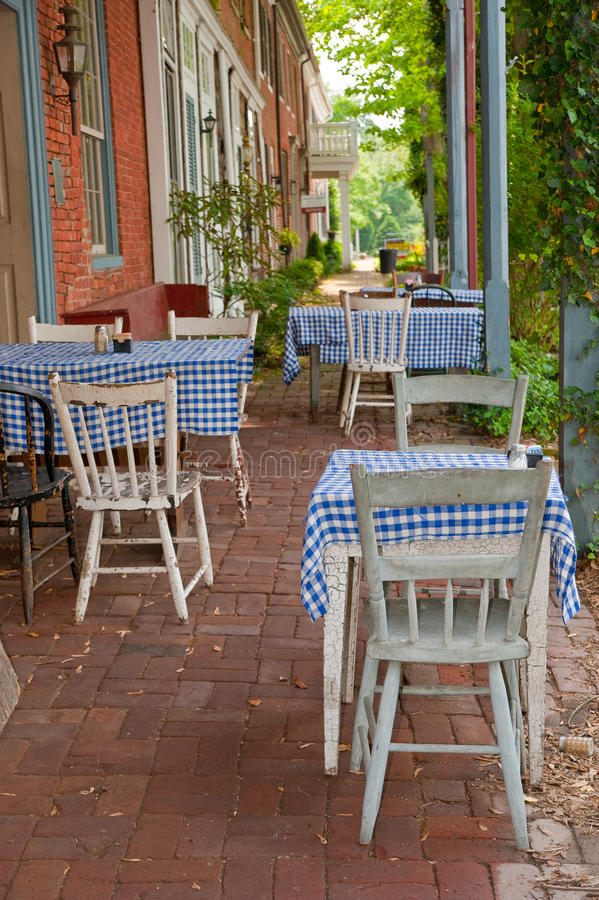 Vintage Outdoor Cafe Stock Photography