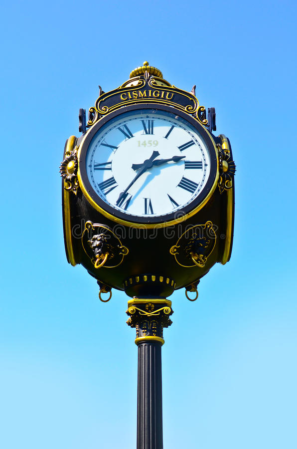 Download Vintage Outdoor Clock Royalty Free Stock Images - Image: 21358839