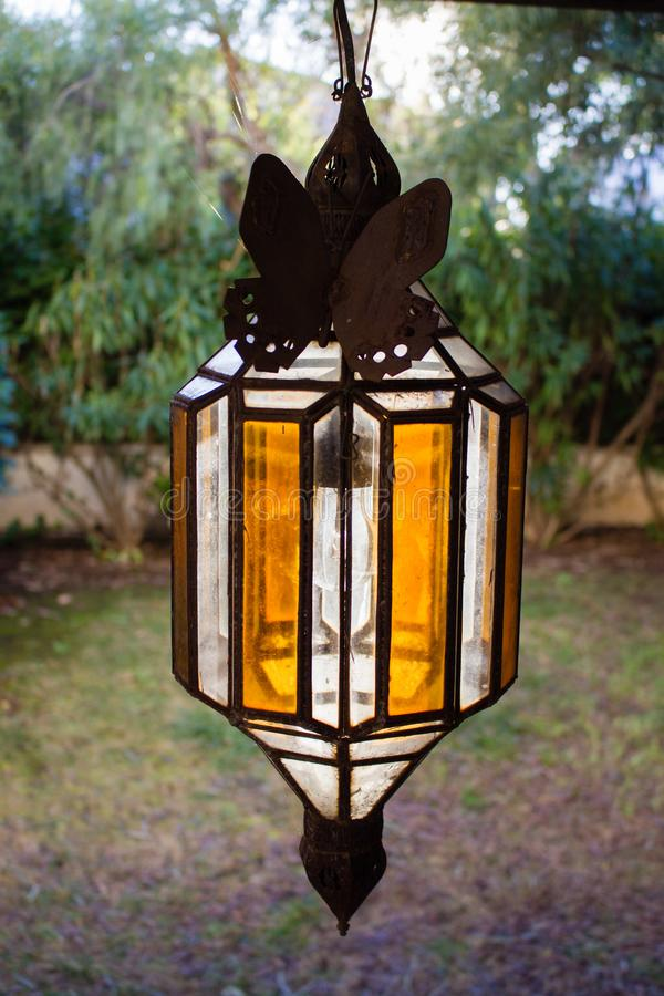 Vintage Outdoor Porch Pental Lamp Fixation Lights Vintage Terrace Lighting lanterna, luz do pingente exterior do teto foto de stock