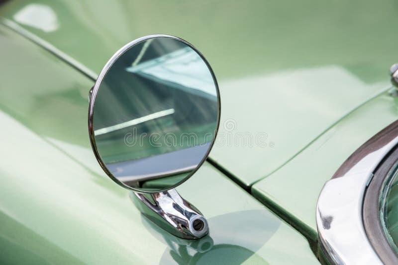 Vintage Auto Outside Rear View Mirror Stock Photo Image
