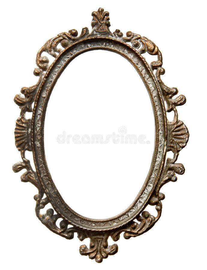 Vintage oval frame stock images