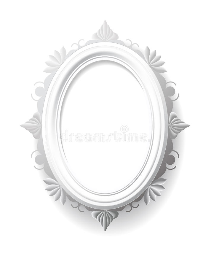 Free Vintage Oval Frame. Stock Photo - 33381230