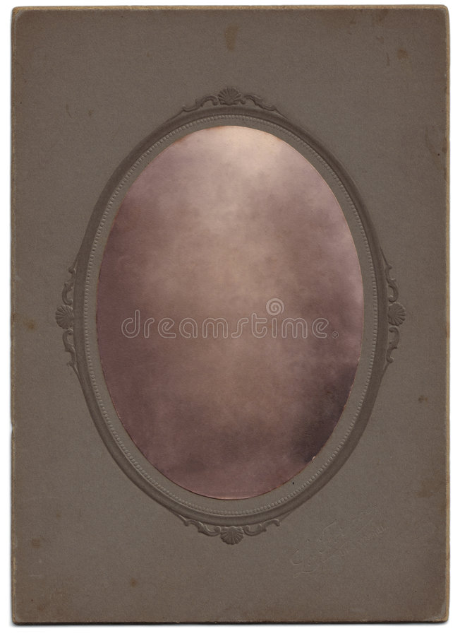Vintage Oval Portrait, Blanked stock photo