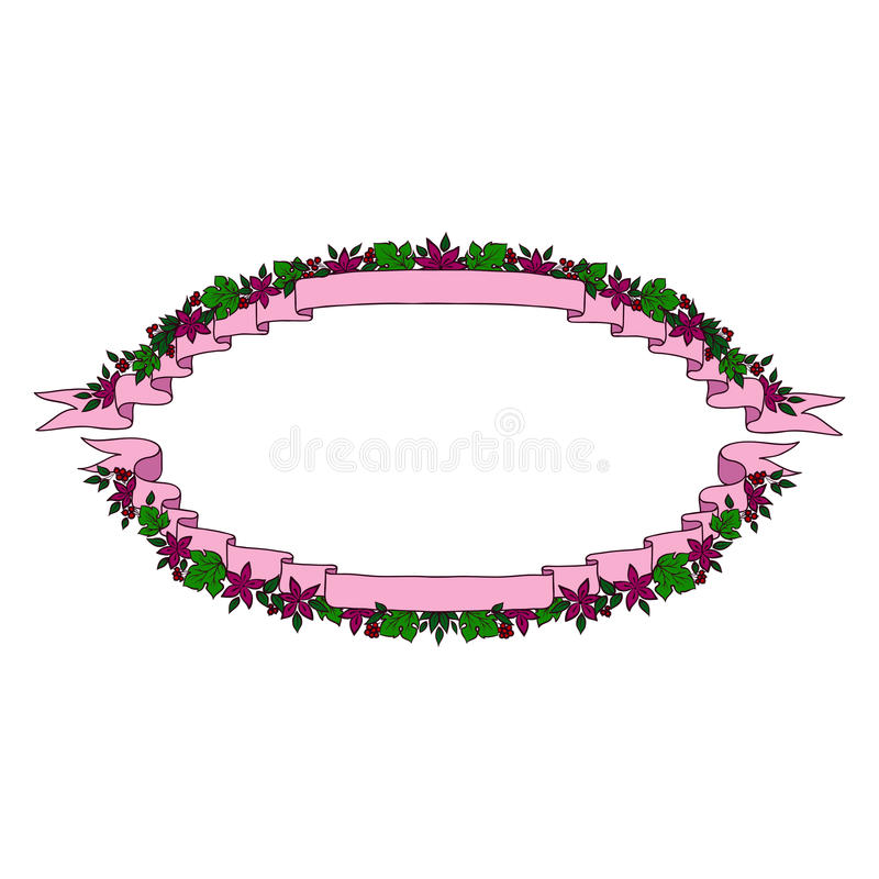 Download Vintage Oval Ribbon Banners Stock Vector