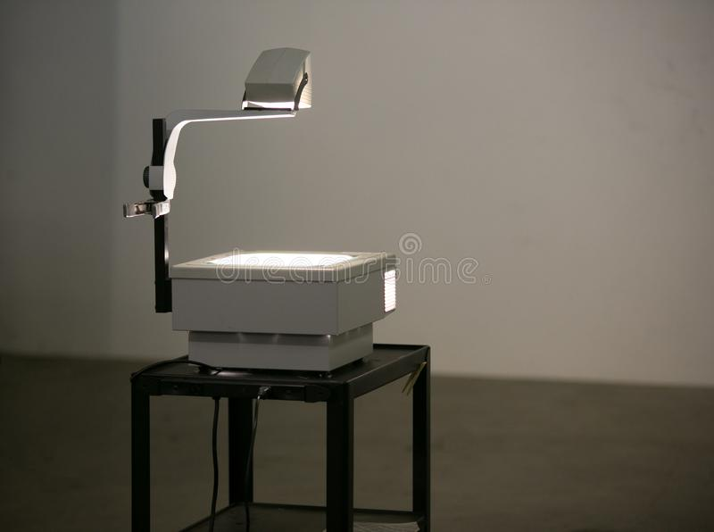 Vintage overhead projector on a stand. stock images