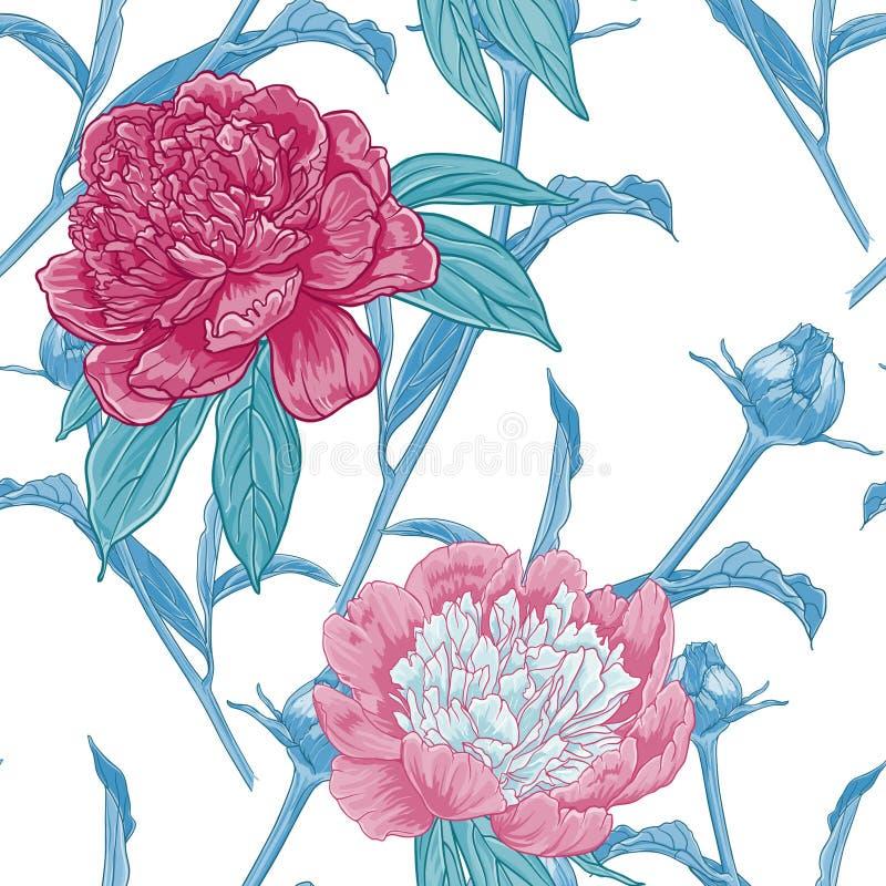 Vintage p inconsútil floral libre illustration