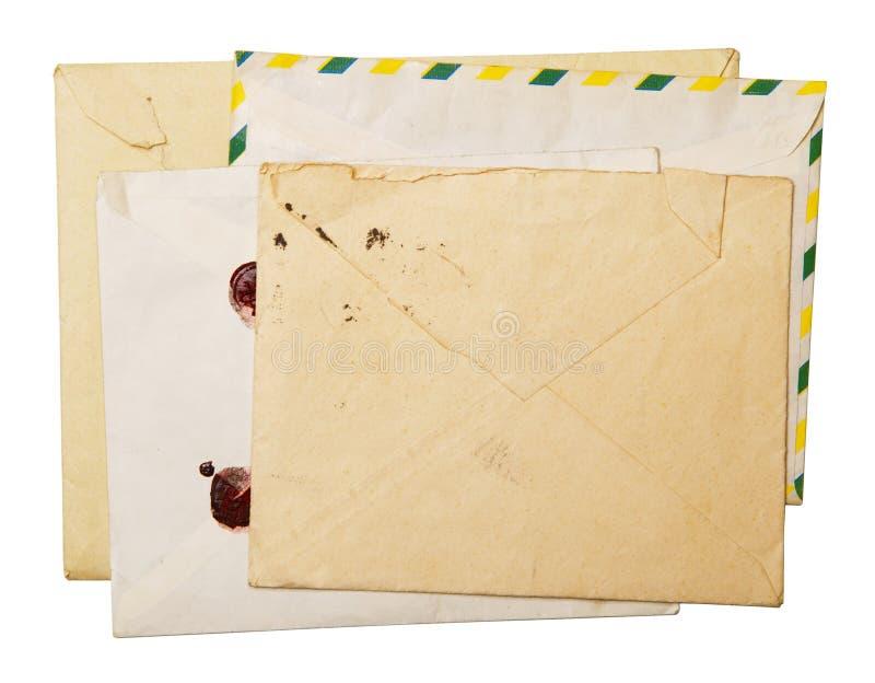 Vintage packet for correspondence. Old vintage packet for correspondence stock images